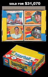 1960 Topps Baseball Series 2 Unopened Cello Box (36 count) from Variety Shop Find with Mantle/Boyer & Yastrzemski Rookies Showing!