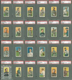 T206 Tobacco Baseball Card Lot All PSA EX-MT 6 of (141)
