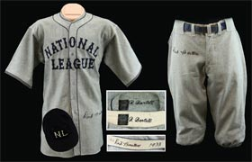 1933 Dick Bartell Game Used All Star Game Uniform - Jersey, Pants, Hat & belt - all signed autographed