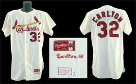 Steve Carlton Game Used St. Louis Cardinals Baseball Jersey Uniform 1968