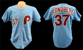 1981 Ryne Sandberg Game Used Rookie Phillies Jersey