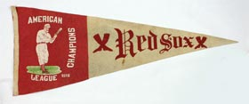 1915 Boston Red Sox American League Champions Oversized Felt Pennant