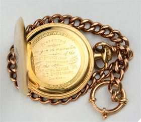 1915 Philadelphia Phillies NL Champions Pocket Watch For Member of Team