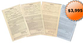 1932 Boxing Fight Signed Autographed Contracts Signed by Primo Carnero, Max Baer, Ernie Schaaf