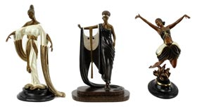 Erte Bronze Statues Art Deco Collection