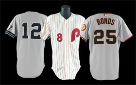 Baseball Game-Used Jerseys and Uniforms