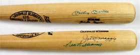 Joe DiMaggio 1968 Game Used Coach's Baseball Bat Signed Autographed DiMaggio, Mantle & Williams