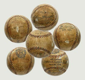 1934 Game Used All Star Baseball Signed Autographed Babe Ruth, Lou Gehrig, Walter Johnson, Jimmie Foxx - The Matchless Ball