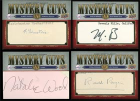 Albert Einstein, Ronald Reagan, Natalie Wood, Marlon Brando Signed Autographed Upper Deck Mystery Cuts Collection