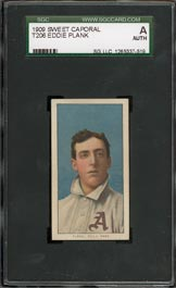 T206 Eddie Plank SGC Authentic