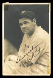 Babe Ruth Signed George Burke Photograph - Full JSA