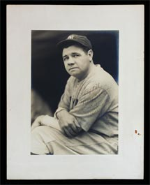 Babe Ruth Autographed Signed George Burke Photo To Teammate Henry Johnson - Dated 1931