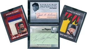 Collection of 2007 2008 2009 Sport Kings Super Patch Jumbo Box Autograph Game Used Insert Cards