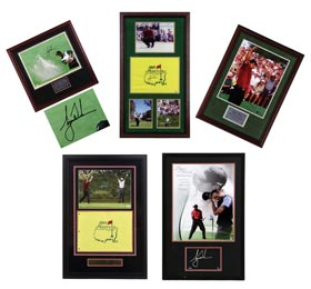 Tiger Woods Signed Autographed Display Items